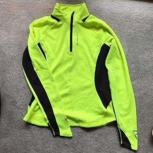 Brooks Tops - Brooks zip nightlife yellow running top medium
